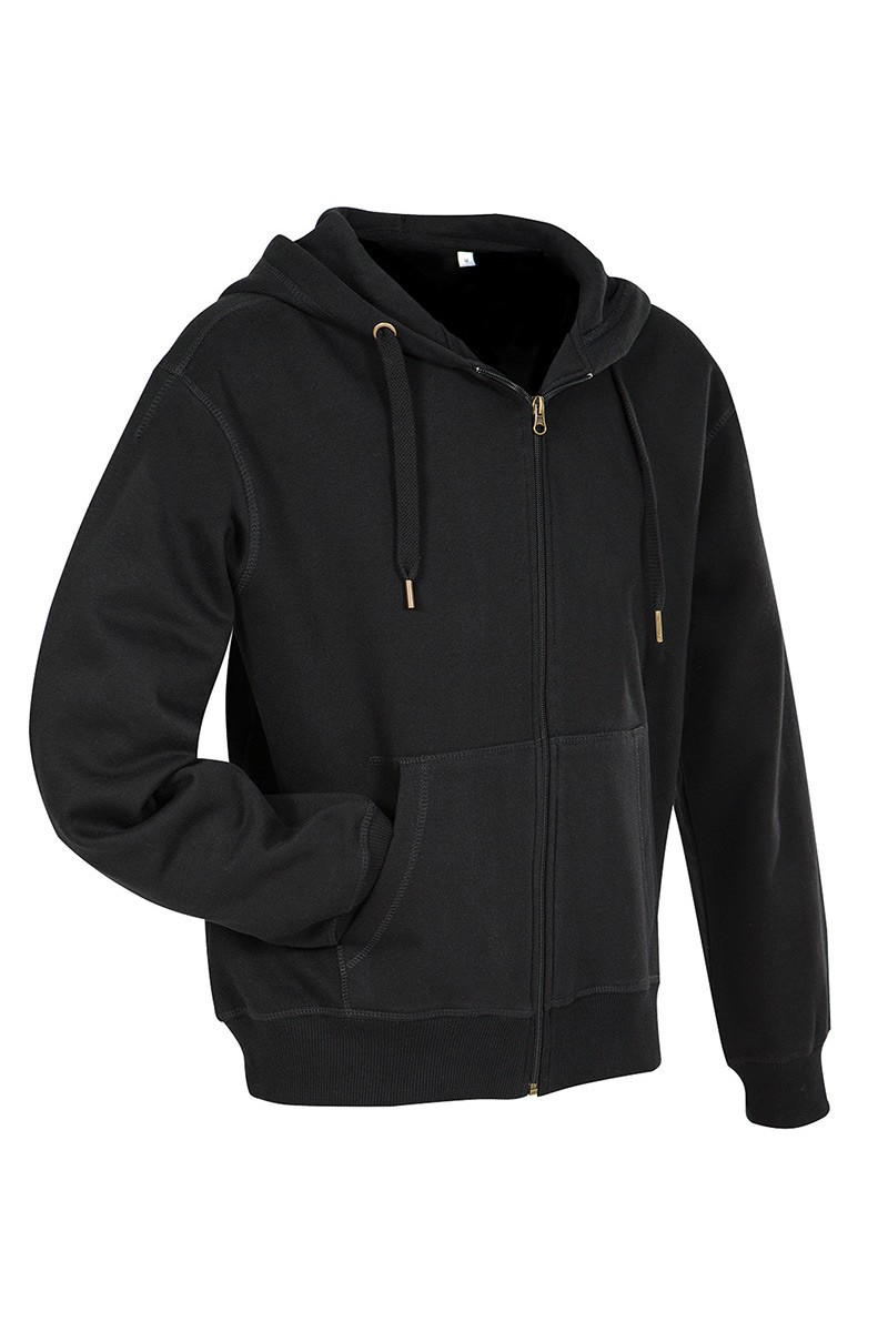 ACTIVE sweatjacket, fekete, L