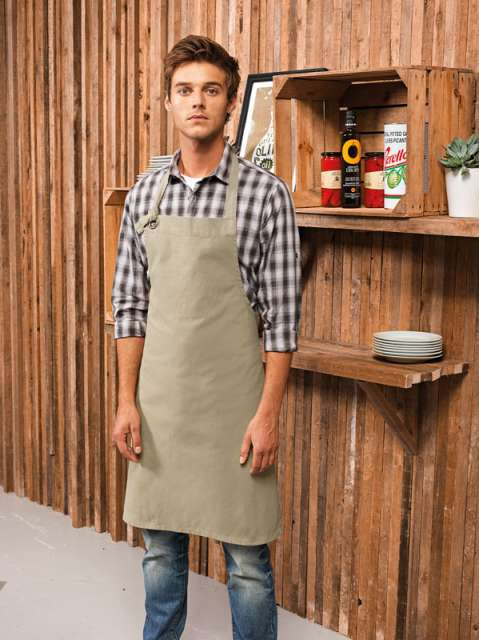 'CALIBRE' HEAVY COTTON CANVAS BIB APRON